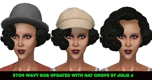 Roaring Heights Wavy Bob 3to4 With Hat Chops at Julietoon – Julie J image 512 Sims 4 Updates