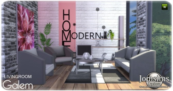 Galem living room at Jomsims Creations image 516 670x355 Sims 4 Updates