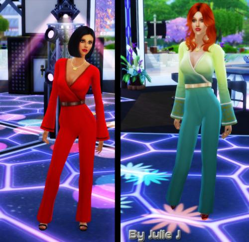 Female Vee Trouser Suit at Julietoon – Julie J image 52151 Sims 4 Updates