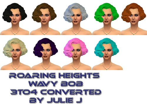 Roaring Heights Wavy Bob 3to4 With Hat Chops at Julietoon – Julie J image 522 Sims 4 Updates
