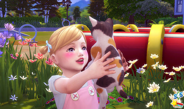 Toddler & Kitten Pose at A luckyday image 53141 Sims 4 Updates