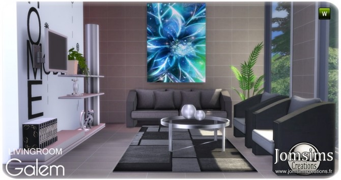 Galem living room at Jomsims Creations image 534 670x355 Sims 4 Updates