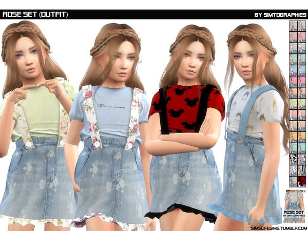 Sims 4 Rose Set (Outfit) by simtographies at TSR