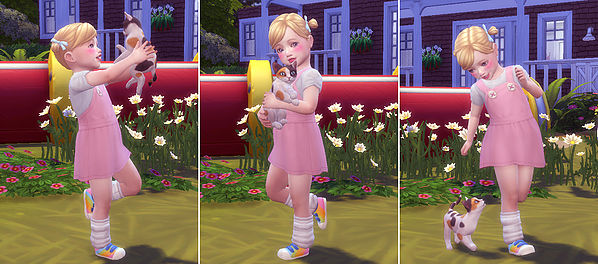 Toddler & Kitten Pose at A luckyday image 54141 Sims 4 Updates