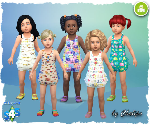 Little girl outfits by Chalipo at All 4 Sims image 5415 Sims 4 Updates
