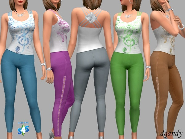 Sims 4 Mollie outfit by dgandy at TSR