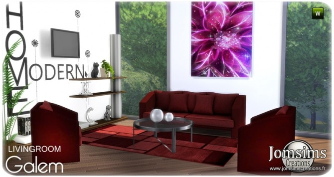 Galem living room at Jomsims Creations image 544 670x355 Sims 4 Updates