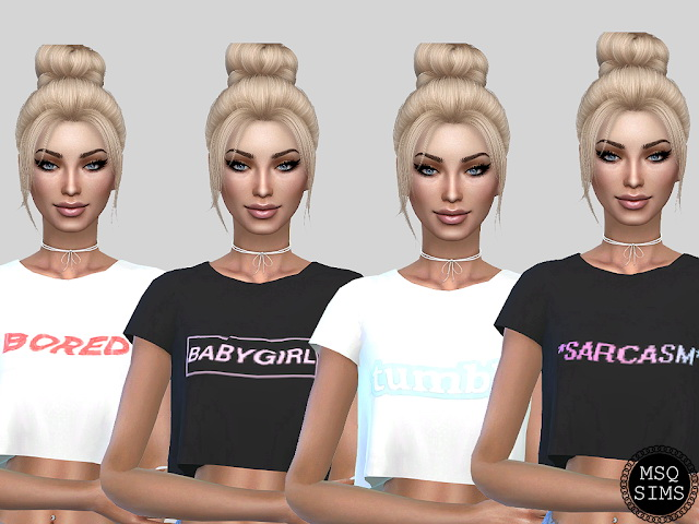 Sims 4 Sandy T Shirt Collection at MSQ Sims