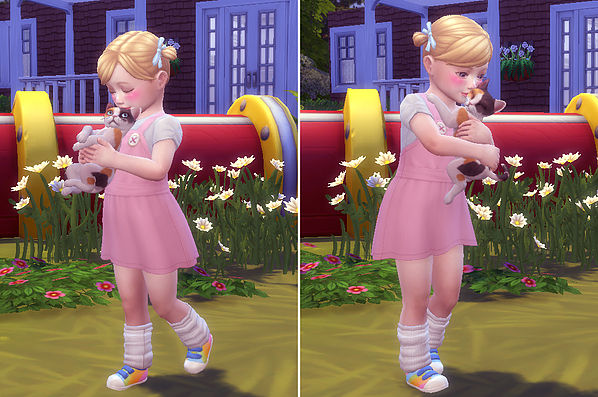 Toddler & Kitten Pose at A luckyday image 5513 Sims 4 Updates