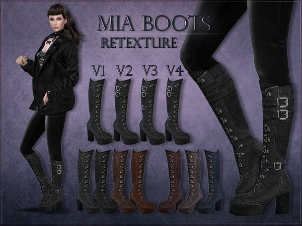 Madlen Mia Boots Retexture by RemusSirion at TSR image 5518 Sims 4 Updates