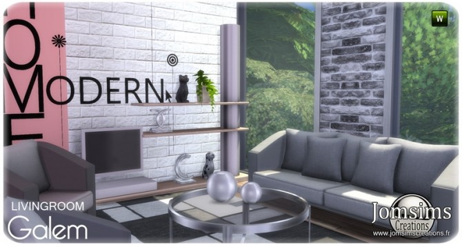 Galem living room at Jomsims Creations image 554 670x355 Sims 4 Updates