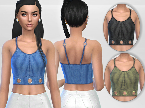 Denim Top by Puresim at TSR image 555 Sims 4 Updates