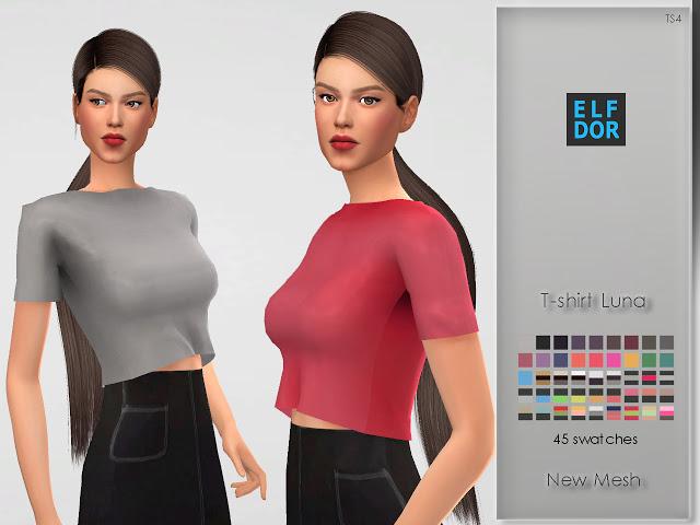 Luna T shirt at Elfdor Sims image 5611 Sims 4 Updates