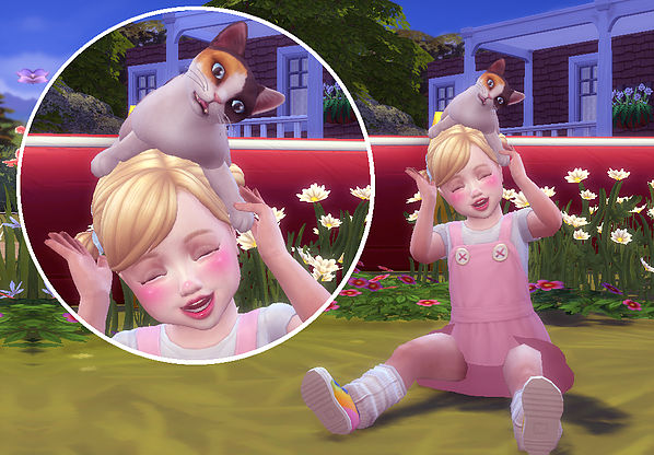 Toddler & Kitten Pose at A luckyday image 56131 Sims 4 Updates