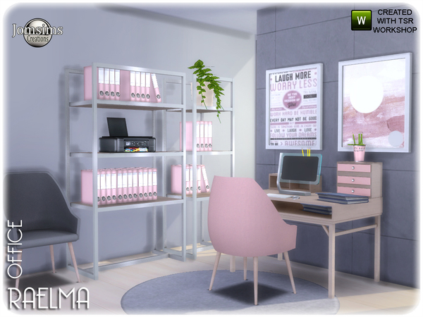 Raelma office by jomsims at TSR image 5616 Sims 4 Updates