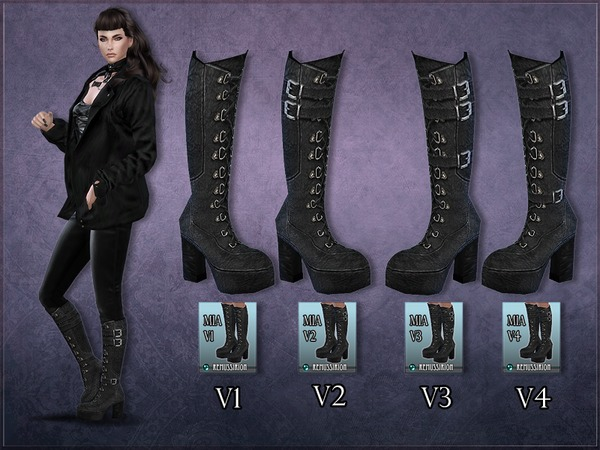Madlen Mia Boots Retexture by RemusSirion at TSR image 5618 Sims 4 Updates