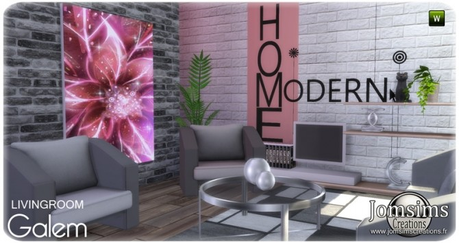 Galem living room at Jomsims Creations image 564 670x355 Sims 4 Updates