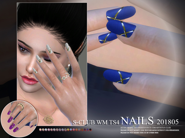 Nails 201805 by S Club WM at TSR image 565 Sims 4 Updates