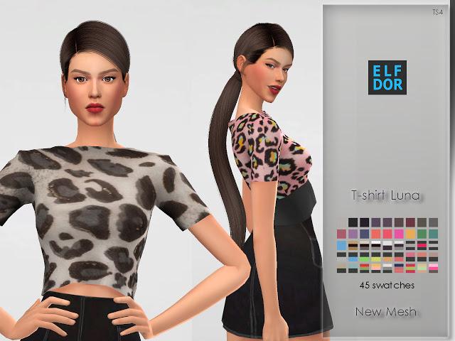 Luna T shirt at Elfdor Sims image 5711 Sims 4 Updates