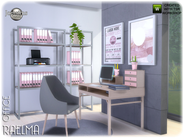Raelma office by jomsims at TSR image 5716 Sims 4 Updates