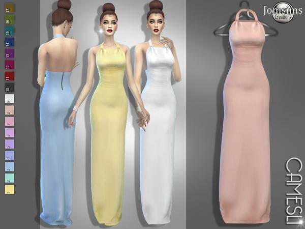 Camesli dress by jomsims at TSR image 5718 Sims 4 Updates