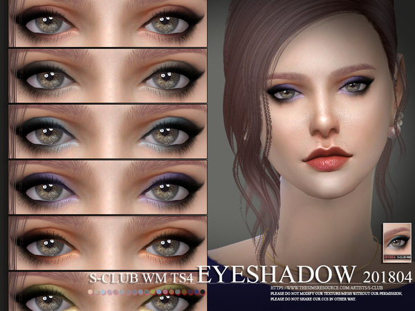 Eyeshadow 201804 by S Club WM at TSR image 575 Sims 4 Updates