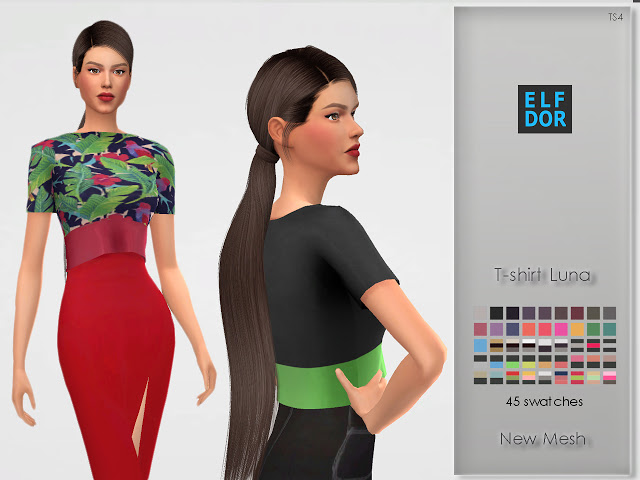 Luna T shirt at Elfdor Sims image 5810 Sims 4 Updates