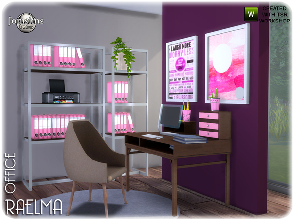 Raelma office by jomsims at TSR image 5815 Sims 4 Updates