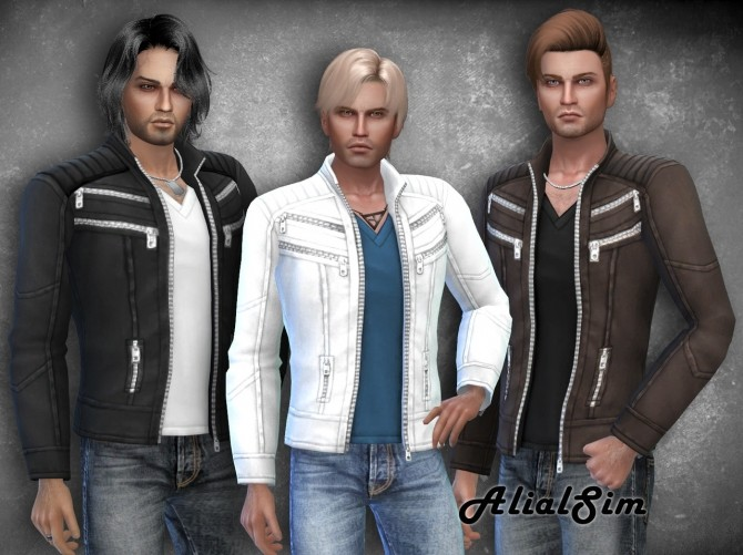 Sims 4 Leather Jacket at Alial Sim