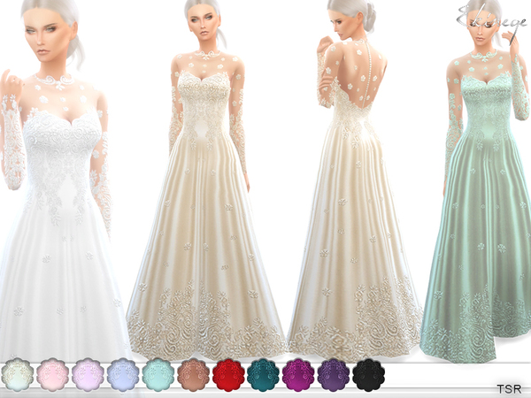 Romantic Wedding Gown by ekinege at TSR image 5915 Sims 4 Updates