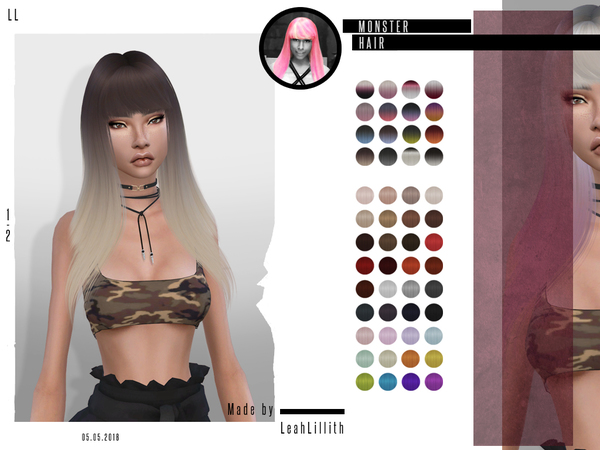 Monster Hair by LeahLillith at TSR image 594 Sims 4 Updates