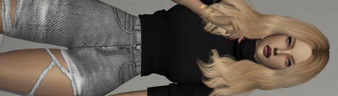 CAZY BOMD HAIR retexture at REDHEADSIMS image 598 670x192 Sims 4 Updates