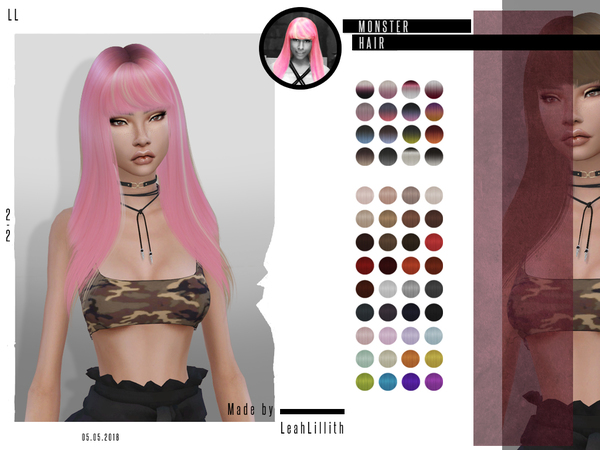 Monster Hair by LeahLillith at TSR image 604 Sims 4 Updates