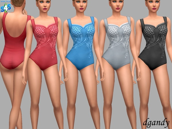 Sims 4 Jamie Swimsuit by dgandy at TSR