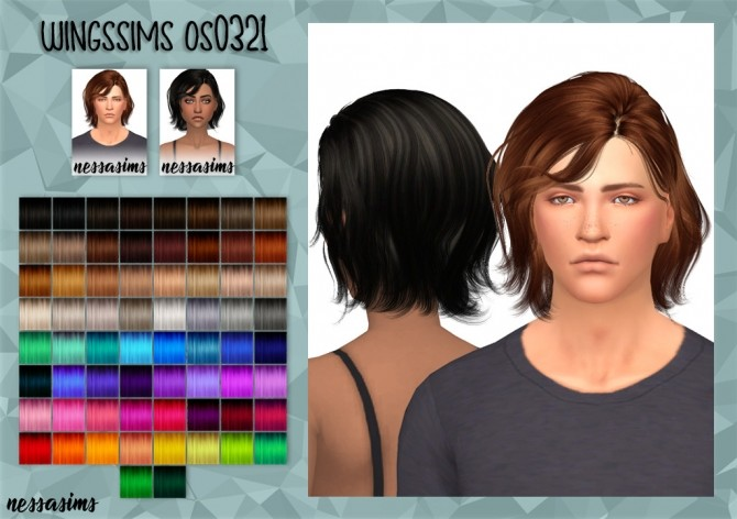 Sims 4 Wingssims os0321 hair retexture at Nessa Sims