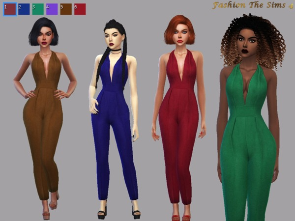 Jumpsuit LIYA recolor by LYLLYAN at TSR image 619 Sims 4 Updates