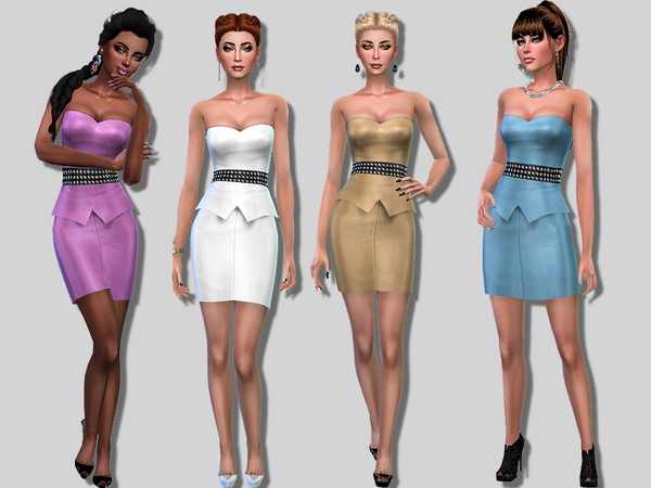 Cara dress by Simalicious at TSR image 62 Sims 4 Updates