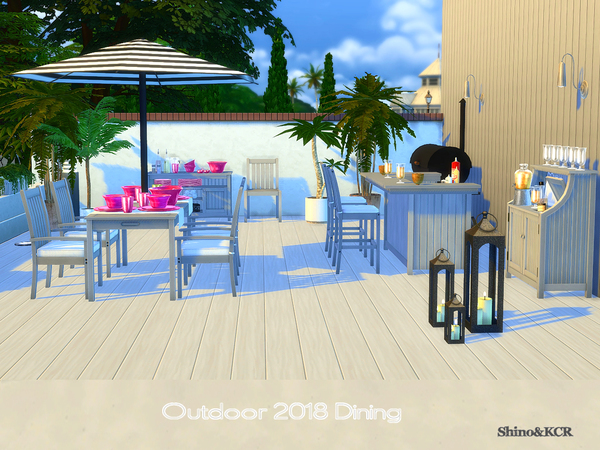 Dining Outdoor 2018 by ShinoKCR at TSR image 6212 Sims 4 Updates
