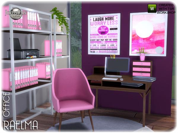 Sims 4 Raelma office by jomsims at TSR