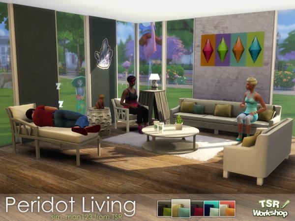 Peridot Living Room by sim man123 at TSR image 6220 Sims 4 Updates