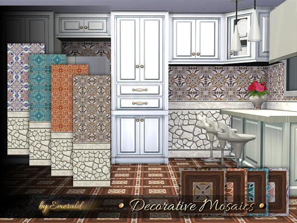 Decorative Mosaics by emerald at TSR image 627 Sims 4 Updates