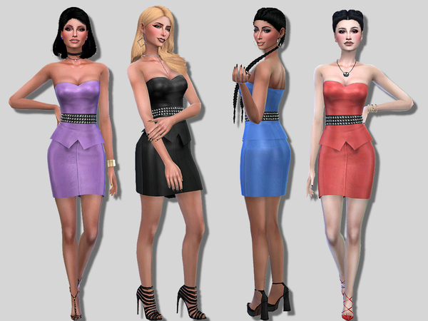 Cara dress by Simalicious at TSR image 63 Sims 4 Updates