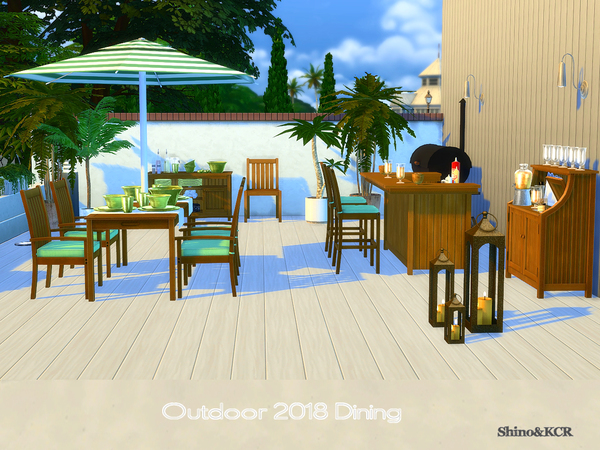 Dining Outdoor 2018 by ShinoKCR at TSR image 6310 Sims 4 Updates