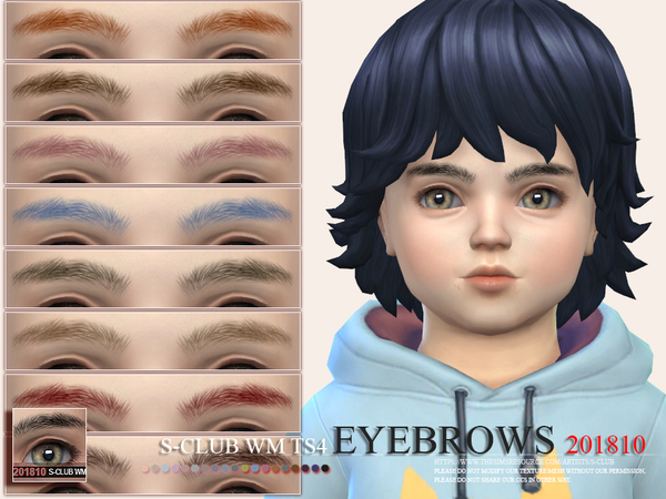 Sims 4 Eyebrows 201810 by S Club WM at TSR