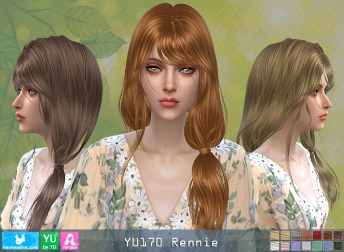 Sims 4 YU170 Rennie hair (P) at Newsea Sims 4