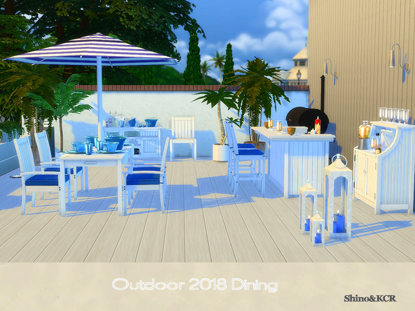 Dining Outdoor 2018 by ShinoKCR at TSR image 6410 Sims 4 Updates