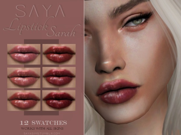 Sarah Lipstick by SayaSims at TSR image 6417 Sims 4 Updates