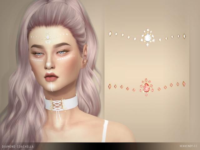 Sims 4 Diamond Coachella Jewelry at Heavendy cc