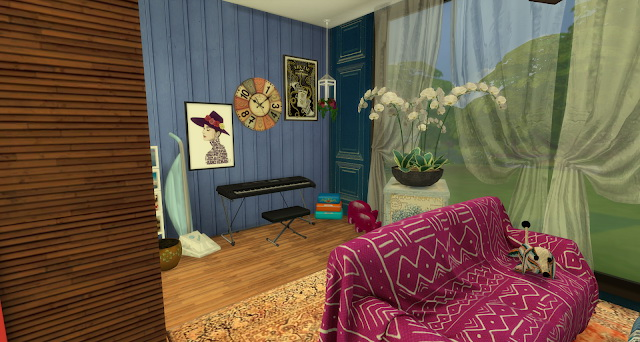Sims 4 Francis livingroom or entertainment room at Pandasht Productions
