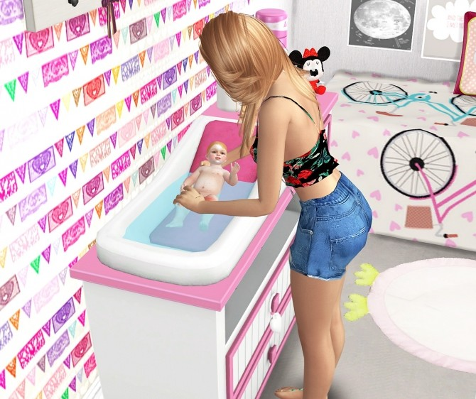 BABIES STORIES DECOR 2 + POSES by Thiago Mitchell at REDHEADSIMS – Coupure Electrique image 6812 670x562 Sims 4 Updates